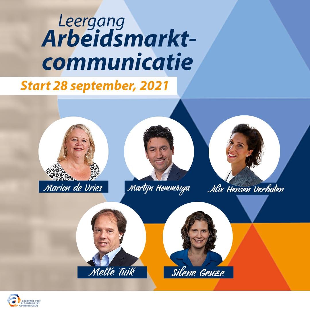 Leergang Arbeidsmarktcommunicatie 28 september 2021