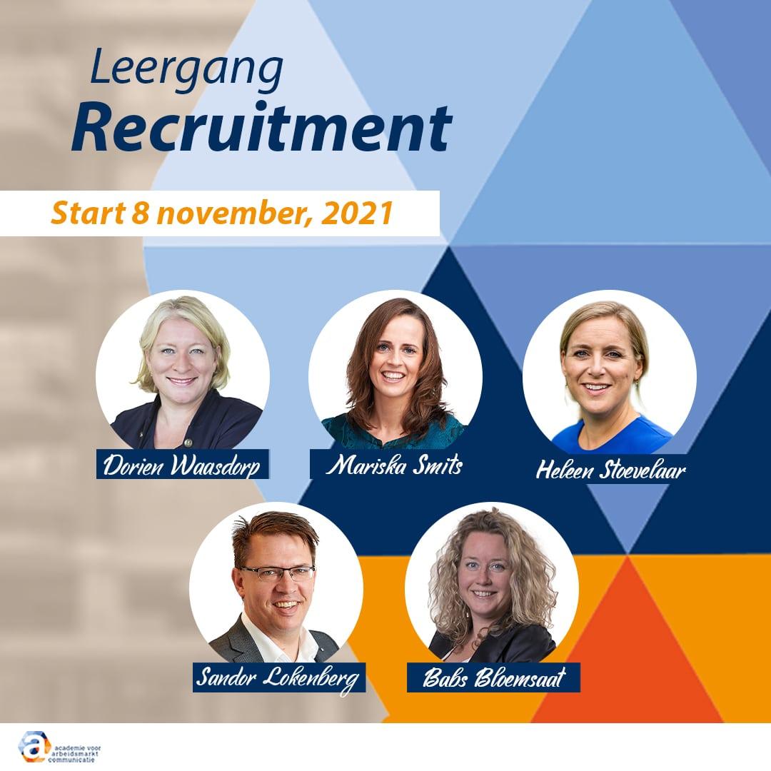 Leergang Recruitment - Banner